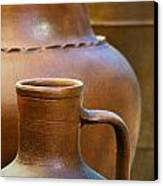 Clay Pottery Canvas Print