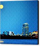 Clearwater At Night Canvas Print by Bill Cannon