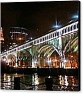 Cleveland Reflection Canvas Print by Rotaunja