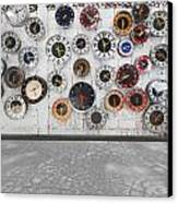 Clocks On The Wall Canvas Print by Setsiri Silapasuwanchai