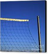 Close-up Of A Volleyball Net Abandoned. Canvas Print by Bernard Jaubert