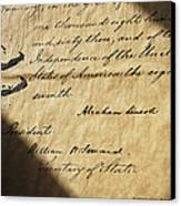 Close-up Of Emancipation Proclamation Canvas Print
