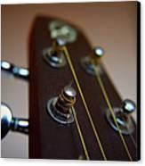 Close-up Of Guitar Canvas Print by Image by Maistora (Vladimir Dimitroff)