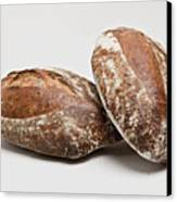 Close Up Of Loaves Of Bread Canvas Print by Henn Photography