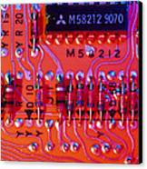 Close-up Of Printed Circuit Board Canvas Print