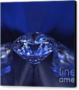 Closeup Blue Diamond In Blue Light. Canvas Print by Atiketta Sangasaeng