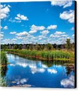 Cloud Reflections Caw Caw Park Canvas Print by Jenny Ellen Photography