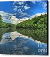 Clouds In The Lake Canvas Print by Adam Jewell