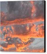 Clouds On Fire Canvas Print by Kevin Bone