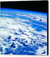 Clouds Over Earth Viewed From A Satellite Canvas Print by Stockbyte