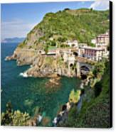 Coastal Railway Tunnel In Italian Village Canvas Print by Wx Photography