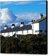 Coastguard Cottages Dunwich Heath Suffolk Canvas Print by Darren Burroughs