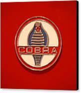 Cobra Emblem Canvas Print by Mike McGlothlen