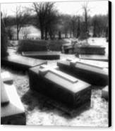Coffins And Angel Canvas Print