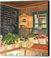 Colby Farm Stand Produce Canvas Print