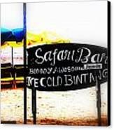 Cold Bintang At The Safari Bar In Bali Canvas Print by Funkpix Photo Hunter