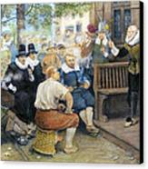 Colonial Smoking Protest Canvas Print