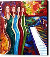 Color Of Music Canvas Print by Yelena Rubin