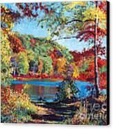 Color Rich Harriman Park Canvas Print by David Lloyd Glover