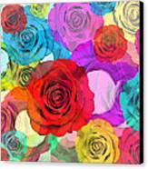 Colorful Floral Design  Canvas Print by Setsiri Silapasuwanchai
