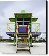 Colorful Lifeguard Station Canvas Print