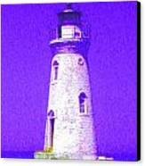 Colorful Lighthouse Canvas Print by Juliana  Blessington