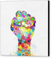 Colorful Painting Of Hand Canvas Print
