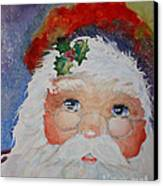 Colorful Santa Canvas Print by Terri Maddin-Miller