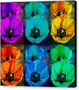 Colorful Tulip Collage Canvas Print by James BO  Insogna