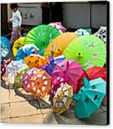 Colorful Umbrellas Canvas Print by John Wong