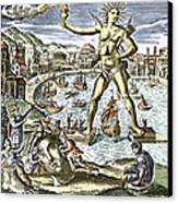 Colossus Of Rhodes Statue Canvas Print by Sheila Terry