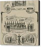 Commemorative Print Depicting The Trial Canvas Print by Everett