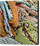 Commercial Fishing Nets And Rope Canvas Print