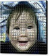 Computer Analysis Of A Smile On A Baby's Face Canvas Print by Institute For Neural Computation, University Of California