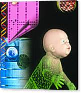 Computer Artwork Depicting Genetic Screening Canvas Print