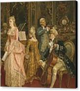 Concert At The Time Of Mozart Canvas Print by Ettore Simonetti