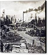 Concord New Hampshire - Logging Camp - C 1925 Canvas Print by International  Images