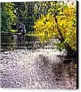 Concord River At Old North Bridge II Canvas Print by Nigel Fletcher-Jones