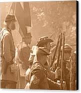 Confederate Breastworks Carnifex Ferry Canvas Print by Thomas R Fletcher
