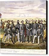 Confederate Generals Canvas Print by Granger
