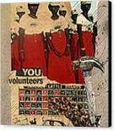 Congratulations You Volunteers Canvas Print by Adam Kissel