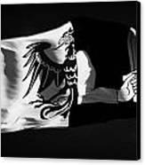 Connacht Provincial Flag Flying In Republic Of Ireland Canvas Print by Joe Fox