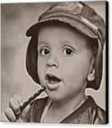 Connor Gets A Treat Canvas Print by Pat Abbott