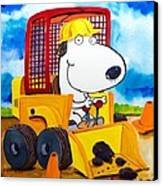 Construction Dogs Canvas Print by Scott Nelson