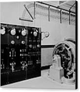 Control Panel And Dynamo Generator Canvas Print
