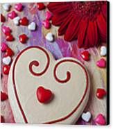 Cookie And Candy Hearts Canvas Print by Garry Gay