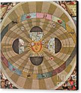 Copernican World System, 17th Century Canvas Print