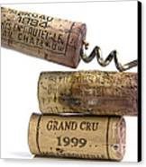 Cork Of French Wine Canvas Print by Bernard Jaubert