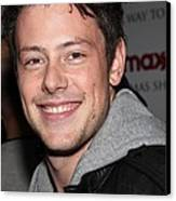 Cory Monteith At In-store Appearance Canvas Print by Everett