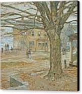 Cos Cob In November Canvas Print by Childe Hassam